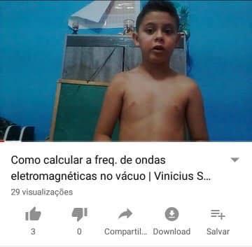 54233808 2442104595845913 4721709856346603520 n - Conheça Vinicius Schvartz, um garoto de 09 anos que criou um canal no Youtube de FISICA!