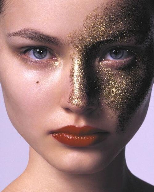 Maquiagem Para Carnaval Com Glitter 5 - Inspiração de Maquiagem pro Carnaval??? 16 fotos para ajudar você a se produzir!