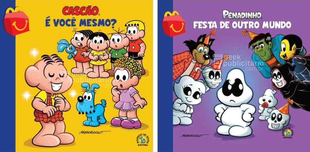cascao penadinho novos livros turma da monica mclanche feliz mcdonalds 2019 imagens divulgacao - McLanche Feliz trará coleção de livros da Turma da Mônica no Brasil, em vez de brinquedos!