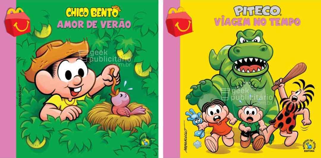chico bento piteco novos livros turma da monica mclanche feliz mcdonalds 2019 imagens divulgacao - McLanche Feliz trará coleção de livros da Turma da Mônica no Brasil, em vez de brinquedos!