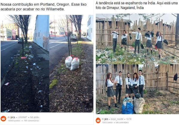 desafio2 - Novo desafio da internet é postar fotos recolhendo o lixo!! #TRASHTAG