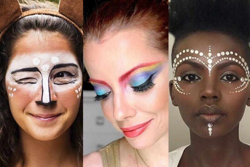 maquiagens carnaval tematica - Inspiração de Maquiagem pro Carnaval??? 16 fotos para ajudar você a se produzir!