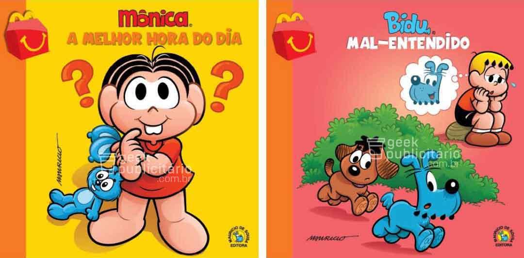 monica bidu novos livros turma da monica mclanche feliz mcdonalds 2019 imagens divulgacao - McLanche Feliz trará coleção de livros da Turma da Mônica no Brasil, em vez de brinquedos!
