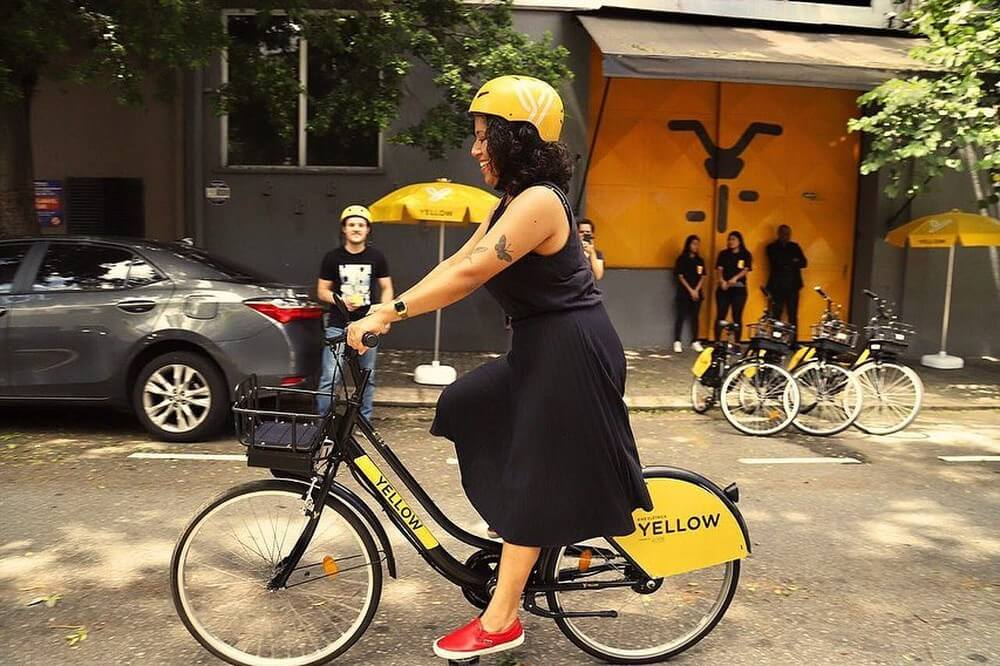 yellow.us 53699531 608528522922678 2419728857162153445 n - Bike estilo 'Uber' chega ao país custando a partir de R$ 5!!
