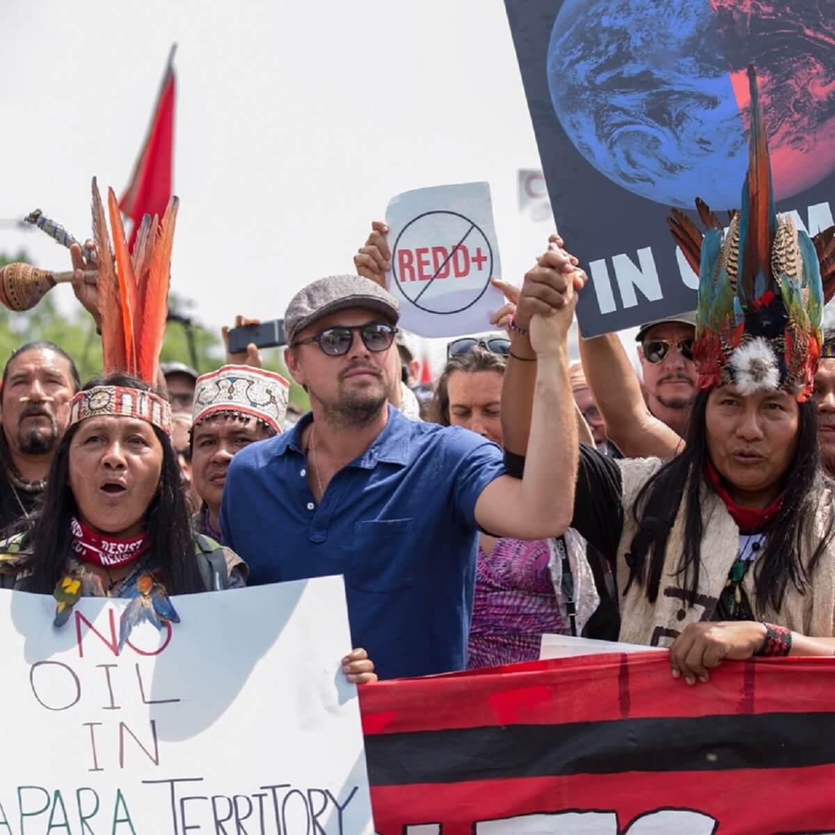 xLeo marcha.jpg.pagespeed.ic .0c mRDQHnI - Leonardo DiCaprio doa R$ 20 milhões para ajudar a combater incêndios na Amazônia