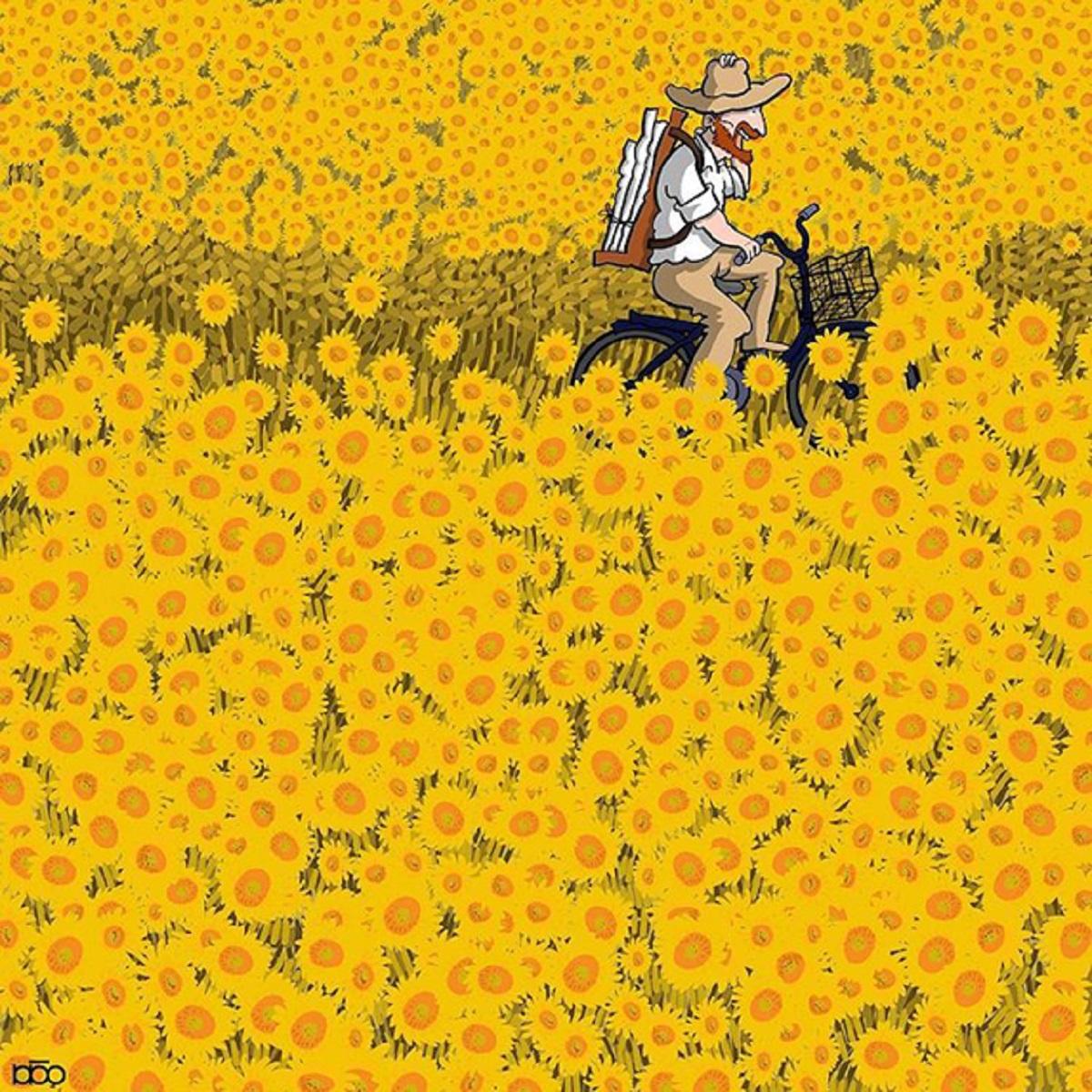 Karimi Van Gogh 02 - Ilustrador Iraniano desenhou a vida de Van Gogh em lindos quadrinhos