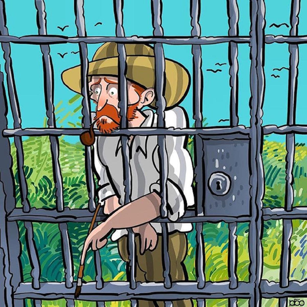 Karimi Van Gogh 03 - Ilustrador Iraniano desenhou a vida de Van Gogh em lindos quadrinhos