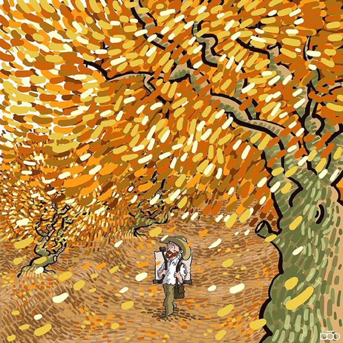 Karimi Van Gogh 06 - Ilustrador Iraniano desenhou a vida de Van Gogh em lindos quadrinhos
