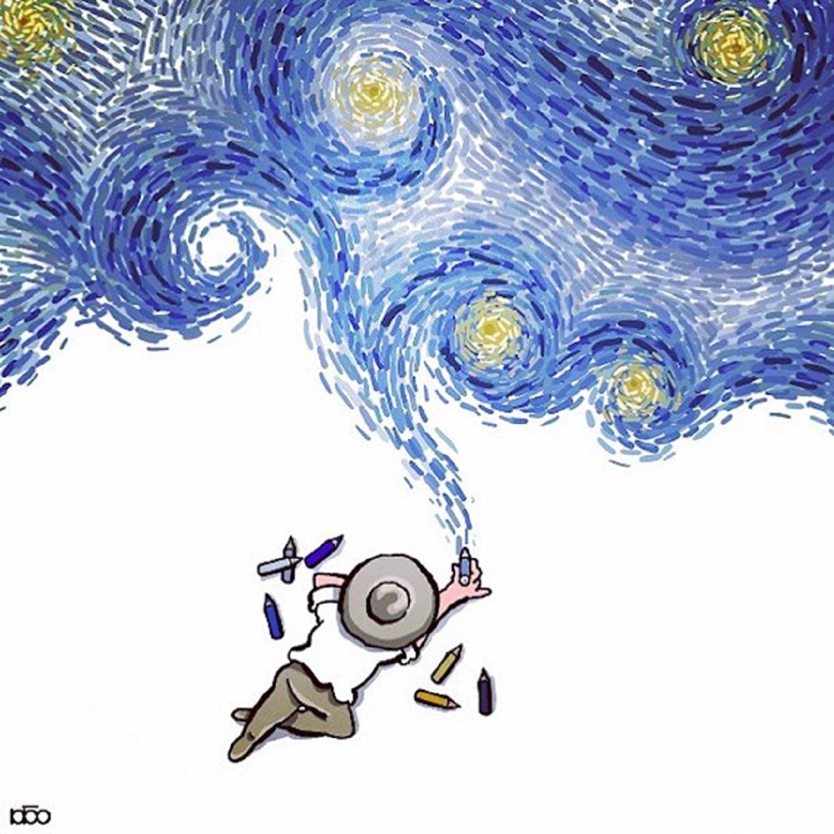 Karimi Van Gogh 08 - Ilustrador Iraniano desenhou a vida de Van Gogh em lindos quadrinhos