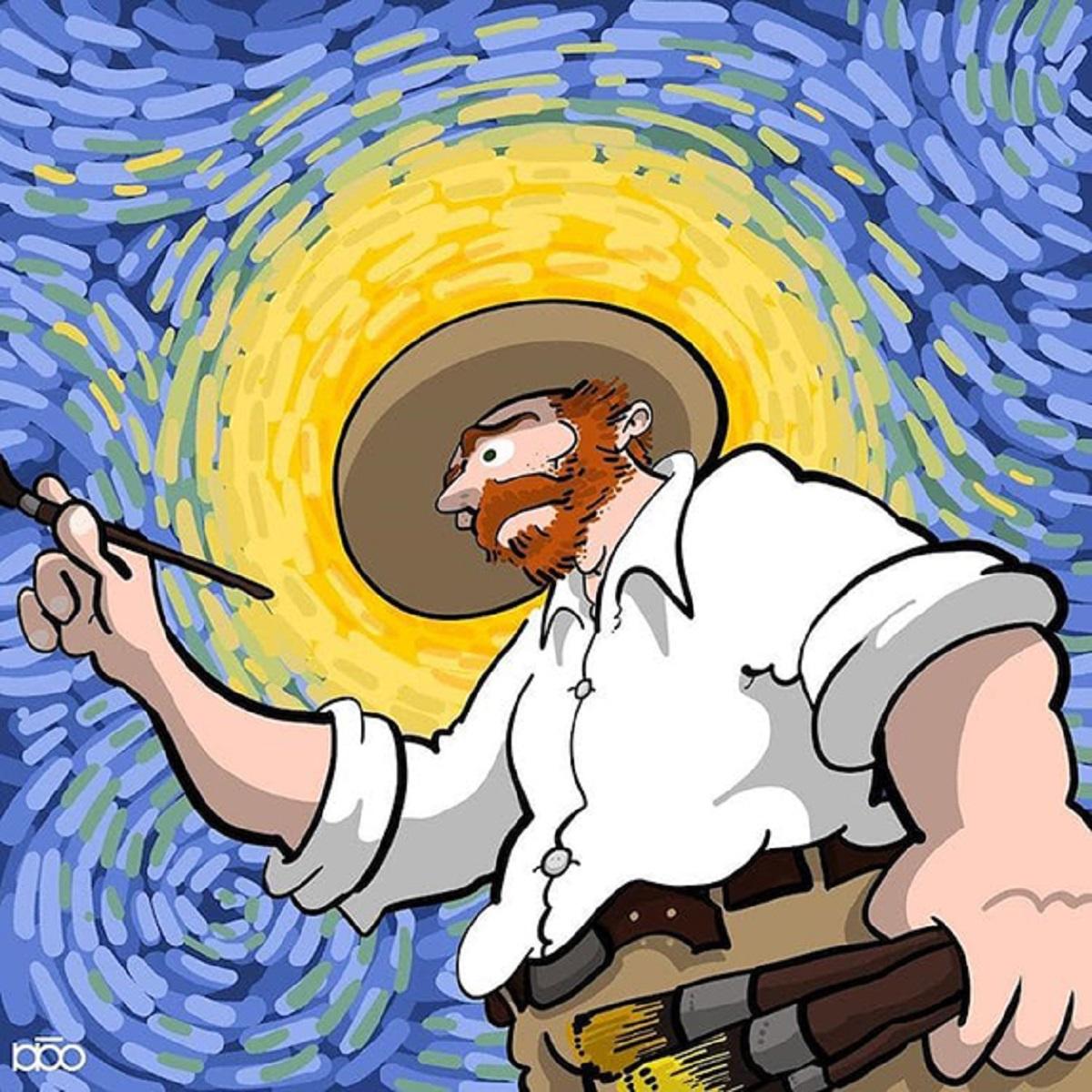 Karimi Van Gogh 09 - Ilustrador Iraniano desenhou a vida de Van Gogh em lindos quadrinhos