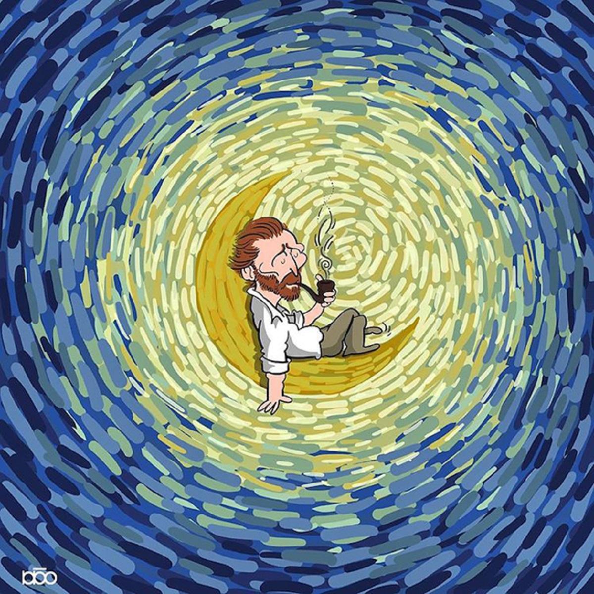 Karimi Van Gogh 10 - Ilustrador Iraniano desenhou a vida de Van Gogh em lindos quadrinhos