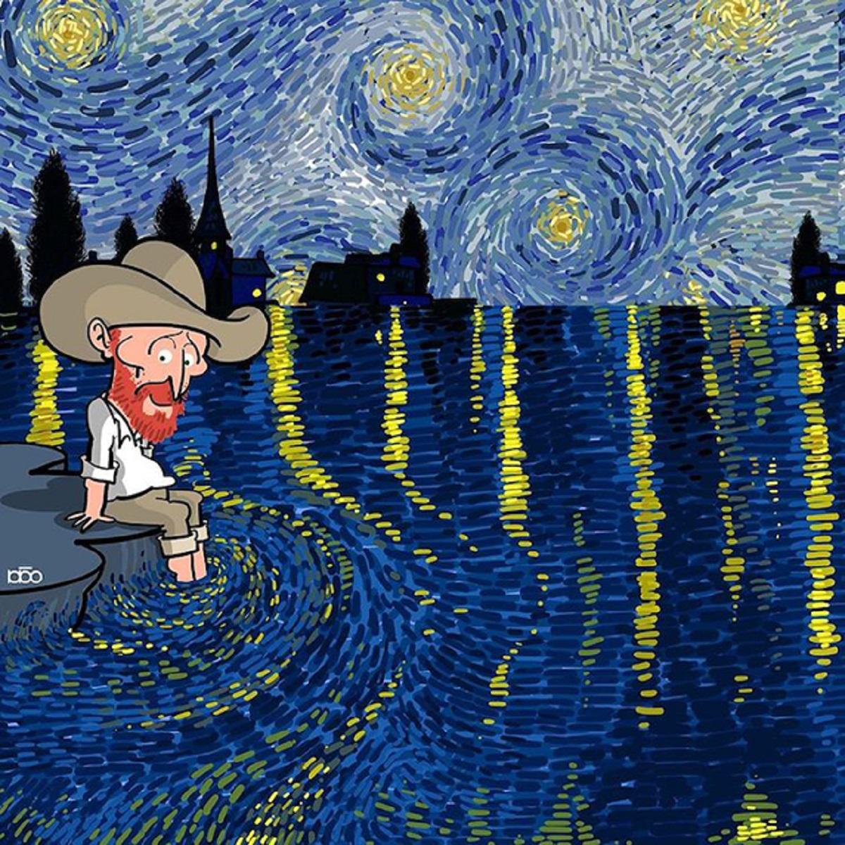 Karimi Van Gogh 13 - Ilustrador Iraniano desenhou a vida de Van Gogh em lindos quadrinhos
