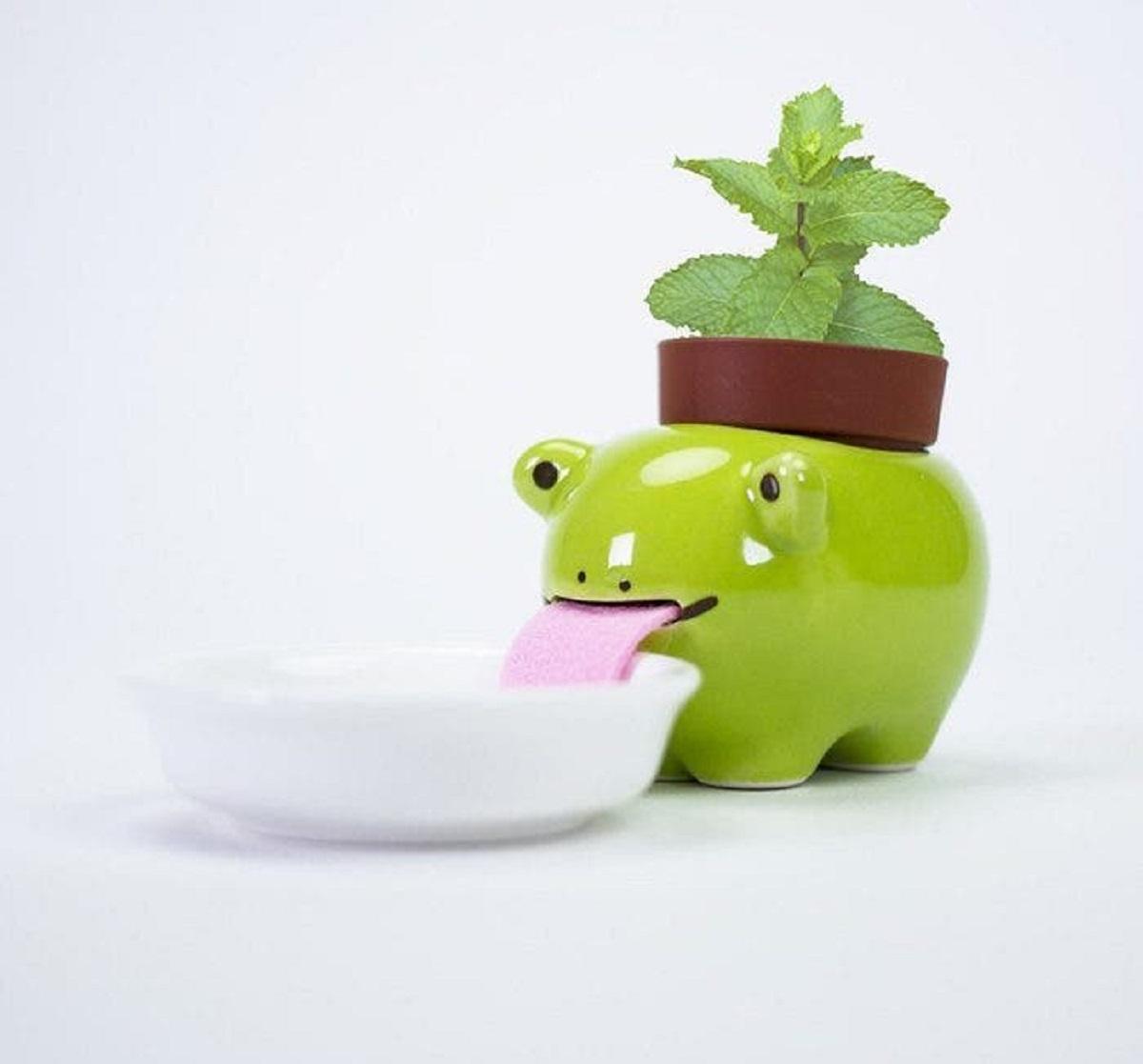 """macetas animales 2 - Esses vasos de planta """"bebem"""" água e mantêm suas plantas regadas!"""