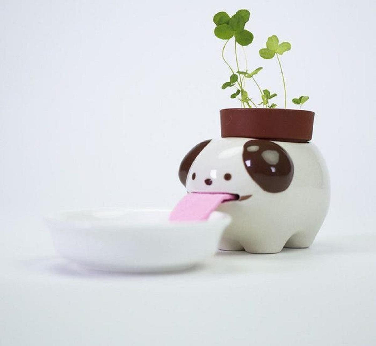 """macetas animales 4 - Esses vasos de planta """"bebem"""" água e mantêm suas plantas regadas!"""